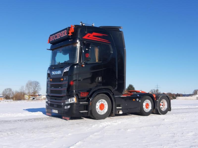 Herpa Scania 770S Buchner Transporte / Andreas Schubert PC Box